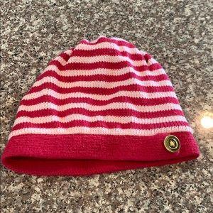 Gap Kids Girls Pink Striped Beanie Hat  M/L 4-5